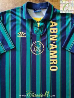Official Umbro Ajax away football shirt from the 1993 1994 season. 8b8dd8500