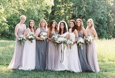 modelos de vestido de madrinhas diferentes cores pastel