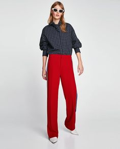Image 1 of TROUSERS WITH SIDE STRIPE from Zara