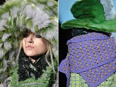 MARC JACOBS, crazy and beautiful at the same time. Love these colors. Want that lavender scarf :))