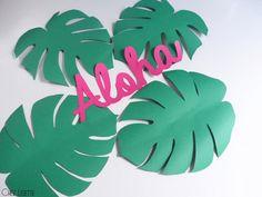 DIY feuilles tropicales