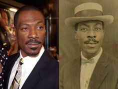 Which Celebrities Might Be Time Travelers? Doppelgängers from the past ~ I guess there's only so many combinations that nature can come up with for faces.  Apparently, some faces repeat themselves, OR they are time travelers.