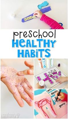 Tons of health themed activities and ideas. Weekly plan includes books literacy math science art sensory bins and more! Perfect for science in tot school preschool or kindergarten. Body Preschool, Preschool Curriculum, Preschool Science, Preschool Lessons, Preschool Learning, Activities For Kids, Science Art, Kindergarten Activities, Preschool Printables