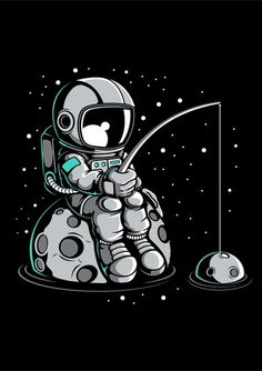 Astronaut Fishing