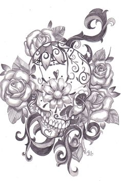 tattoos for women a beautiful pic of an american indian woman | Purchase a print of this Sugar Skull signed by the artist! Click Here!