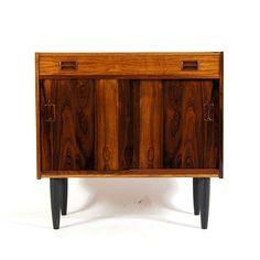 Retro Vintage Danish Rosewood Sideboard Hi-Fi TV Cabinet Scandinavian 1960s 70s