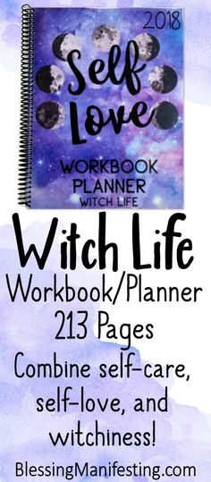 The self-love workbook is all about learning what self-love is and how self-care can transform your life. Study Planner, Planner Pages, Printable Planner, Tarot, Reading Tracker, Witch Board, Business Planner, Pagan Witch, Witches