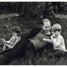 Prince William with Prince George and Princess Charlotte, GQ Magazine, June 2017