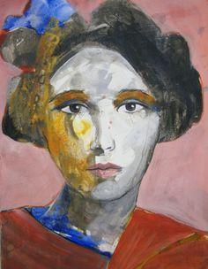 ARTFINDER: Mademoiselle de France # 2 by richard  kuhn - acrylics on paper Größe/ Size: 65 x 50 cm   inch 25,6` x 19,7`