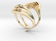 INTERFERENCE RING (US 8 / Ø inside by Roxy_Rahel on Shapeways. Learn more before you buy, or discover other cool products in Rings. Roxy, 3d Printing, Gold Rings, 18th, Rose Gold, Printed, Stuff To Buy, Jewelry, Fashion