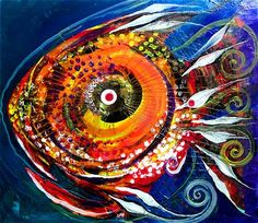 An online gallery of original fish art, abstract paintings, modern art, drawings and prints. The official website and artwork of J. Famous Fish, Watercolor Artists, Fish Art, Textile Artists, Pablo Picasso, Online Gallery, Painting & Drawing, Modern Art, Art Projects