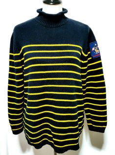 NEW TOMMY HILFIGER GRAY COTTON LONG SLEEVE NAVY//YELLOW STRIPED FLAG POLO SHIRT