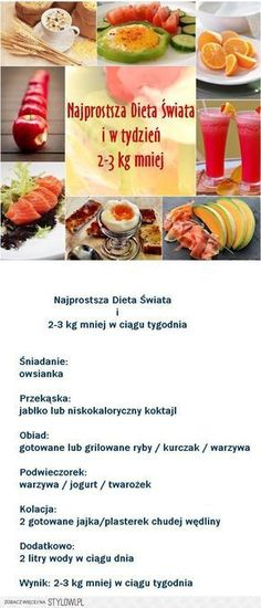 Kliknij i przeczytaj ten artykuł! Healthy Diet Plans, Healthy Eating, Egg Diet Plan, Diet Recipes, Healthy Recipes, Foods To Eat, Balanced Diet, Best Diets, Healthy Lifestyle
