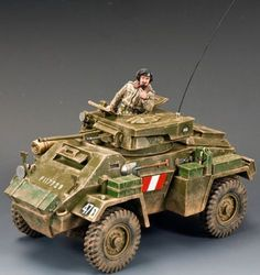 World War II British Army DD176 Humber MK. II Armored Car set - Made by King and Country Military Miniatures and Models. Factory made, hand assembled, painted and boxed in a padded decorative box. Excellent gift for the enthusiast.