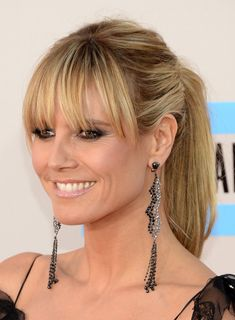 TV personality Heidi Klum attends the 2013 American Music Awards at Nokia Theatre L.A. Live on November 24, 2013 in Los Angeles, California....