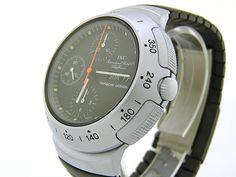 1980's IWC Porsche Design 3701. Aluminium case, POM bracelet. Clean.