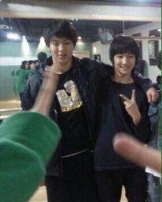 Predebut Shownu of Monsta X and Jaebum of Got7