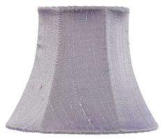 Traditional Shape Chandelier or Sconce Clip-On Silk Shade, Lavender