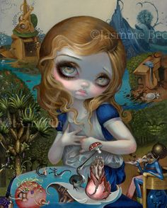 Alice in the Garden of Earthly Delights alice in wonderland art print by Jasmine Becket-Griffith 8x10 hieronymus bosch cheshire cat by strangeling on Etsy https://www.etsy.com/ca/listing/458214996/alice-in-the-garden-of-earthly-delights