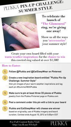 The Glamourai designs for Plukka - Pinterest Challenge