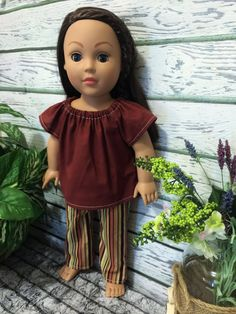 American Made Girl Doll Clothes Striped Doll by sassydollcreations
