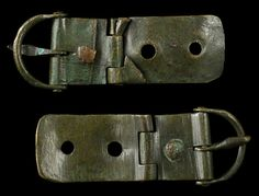 Back buckle from lorica segmentata.(Segmented plate armor). Sold for 325 dollars. Pretty rare find. Hope to see more like this in the future.