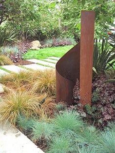 metal art sculptures | Terra Sculpture, modern garden art that's a steel - latimes.com