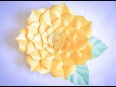 Montagem flor de papel- modelo 3 - YouTube