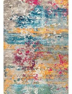 Rugs USA Multi Chroma Abstract Nebula rug - Contemporary Rectangle x Contemporary Rugs, Modern Rugs, Home Designer, Trellis Rug, 8x10 Area Rugs, Yellow Area Rugs, Braided Rugs, Rugs Usa, Natural Texture