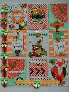 Pocket letter - peach, mint and gold theme | by peachesandpinklemonade