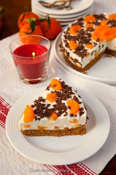 CHEESECAKE CU PORTOCALE SI MANDARINE | Diva in bucatarie Cheesecakes, Truffles, Cookie Recipes, Food And Drink, Pudding, Sweets, Cookies, Desserts, Diva