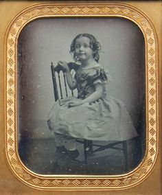 ca. 1850, [daguerreotype portrait of a young smiling girl]: