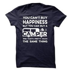 Happiness And Camper T Shirts, Hoodie. Shopping Online Now ==► https://www.sunfrog.com/No-Category/Happiness-And-Camper.html?41382