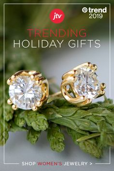 Get the best trending earrings gifts of 2019 from JTV. Stud earrings are every girl's dream – they go with anything and exude elegance. Tap the Pin to shop! Bracelets Diy, Jewelry Box, Jewelery, Fashion Jewelry, Women Jewelry, Candy Christmas Decorations, Earring Trends, Holiday Gifts, Stud Earrings
