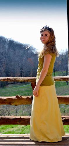 what a sweet long skirt.