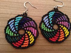 Seed Bead Jewelry, Seed Bead Earrings, Diy Earrings, Beaded Jewelry, Handmade Jewelry, Beaded Bracelets, Beaded Flowers Patterns, Beaded Earrings Patterns, Jewelry Patterns