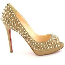 olive green/ yellow peep toe platform with gold stud detail