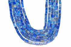 1 Strands Natural Semi Precious Lapiz Lazuli 4x6mm Tube Shape Gemstone Beads #luctsa