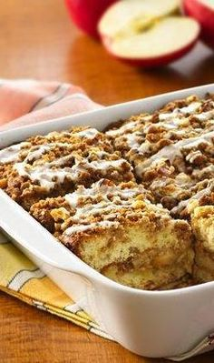 Apple Coffee Cake. 3 steps to homemade delicious coffee cake with fresh apples!