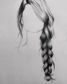 How to draw hair with pencil (drawing tips)
