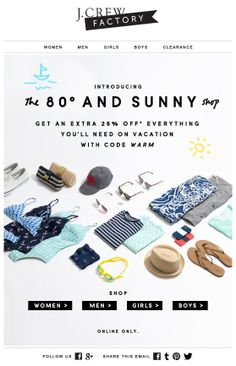 J.CREW : Laydown + Shop Name