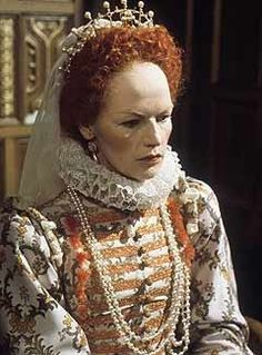 Glenda Jackson in Elizabeth R famous (BBC serie from the 1970s). An impressively good reconstruction of a costume wore by Queen Elizabeth (last quarter of the 16th century).