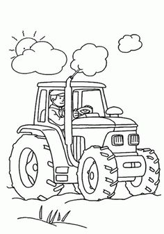 Traktor Színezés Oldalak nyomtatása
