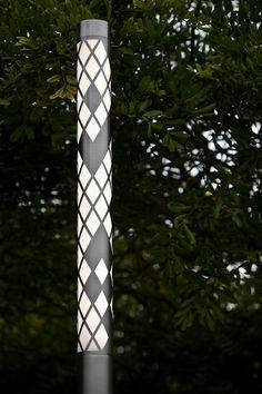 Light Column Pedestrian Lighting shown with 360 degree Argyle shield