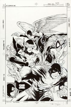 Todd McFarlane Marvel Tales 233 original cover art 1990 X-Men Spider-Man by giantsizegeek, via Flickr