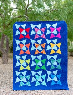 Christa Watson used her Modern Marks prints to create a fantastic quilt featured in issue #22 of Modern Quilts Unlimi...