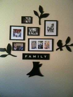 Family Tree Picture Frame Wall Hanging modern family tree wall decal sticker picture frame tree branch