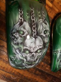 Custom Motorcycle Paint Jobs, Custom Paint Jobs, Motorcycle Art, Bike Art, Skull Stencil, Skull Art, Air Brush Painting, Car Painting, Car Paint Jobs