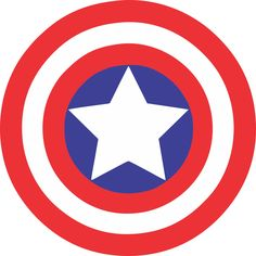 Captin America Logo by BowsandBrosKreations on Etsy https://www.etsy.com/listing/278268186/captin-america-logo Captain America Schild, Captain America Logo, Captin America, Superhero Emblems, Superhero Logo Templates, Captain America Halloween, Captain America Birthday, Avengers Birthday, Superhero Birthday Party