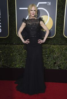 Golden Globe Awards 2018 red carpet is a sea of black